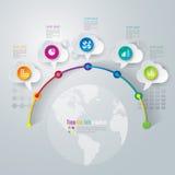 Zeitachse infographics Designschablone. Lizenzfreie Stockfotografie