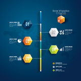 Zeitachse infographics Designschablone. Stockfotos