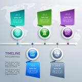 Zeitachse infographics Schablone Lizenzfreie Stockbilder