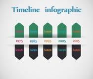 Zeitachse - verschiedene tooltips - Vektor infographic Stockbild