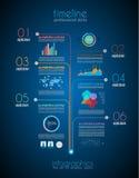 Zeitachse, zum Ihrer Daten mit Infographic anzuzeigen Stockfoto