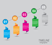 Zeitachse, zum Ihrer Daten mit Infographic-Elementen anzuzeigen Stockbilder