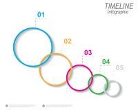 Zeitachse, zum Ihrer Daten mit Infographic-Elementen anzuzeigen Lizenzfreies Stockfoto