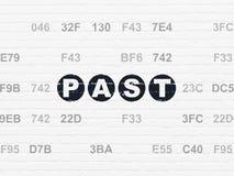Zeitachsekonzept: Vergangenheit auf Wandhintergrund Stock Abbildung