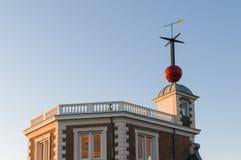 Zeitball königliches Observatorium Lizenzfreies Stockbild