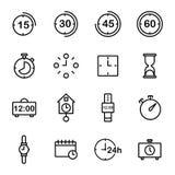 Zeitbezogene Vektor-Linie Ikone Stockfotografie