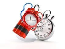Zeitbombe mit Stoppuhr stock abbildung