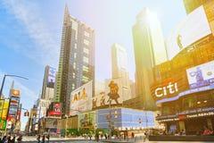 Zeiten Quadrat-zentral und Hauptplatz von New York USA stockfoto