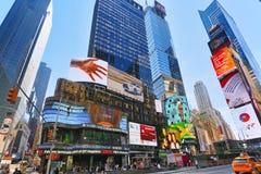Zeiten Quadrat-zentral und Hauptplatz von New York USA lizenzfreies stockbild