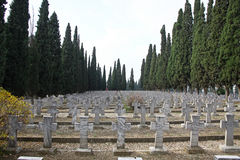 Zeitenlik, the Allied military cemetery and WWI memorial park Royalty Free Stock Image