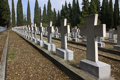 Zeitenlik, the Allied military cemetery and WWI memorial park Royalty Free Stock Photos