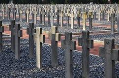 Zeitenlik, el cementerio militar aliado y parque conmemorativo de WWI adentro fotografía de archivo libre de regalías