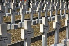 Zeitenlik, el cementerio militar aliado y parque conmemorativo de WWI adentro fotos de archivo libres de regalías