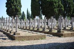 Zeitenlik military cemetery and World War I memorial park in Thessaloniki, the largest in Greece. royalty free stock images