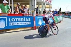 Zeitfahren-Radrennen, das ICH radfahre Lizenzfreie Stockfotos