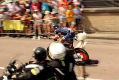 Zeitfahrenradfahrer Lizenzfreies Stockbild