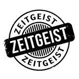 Zeitgeist rubber stamp. Grunge design with dust scratches. Effects can be easily removed for a clean, crisp look. Color is easily changed Stock Image