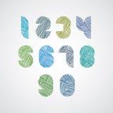 Zeitgenössische Art nummeriert mit Hand gezeichneten Linien Muster Stockfoto