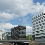 Zeitgenössische Gebäude im HafenCity Hamburg - Deutschland - Europa Stockfotos