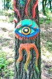 Zeitgenössische Kunst auf Ozora-Festival, Lizenzfreies Stockbild