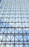 Zeitgenössische Stahlkonstruktion und transparentes Glasdach Lizenzfreies Stockfoto