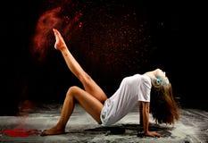 Zeitgenössischer Ballettpulverausdruck Stockfoto