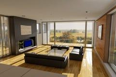Wohnzimmerinnenraum stock abbildung