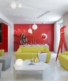 Zeitgenössisches apartament Stockbild