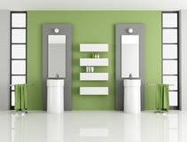 Zeitgenössisches grünes Badezimmer vektor abbildung