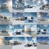 Zeitgenössisches Häuschen Lizenzfreie Stockbilder