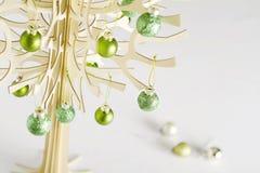 Zeitgenössisches stilisiertes Weihnachtsbaum horiztonal Lizenzfreies Stockbild