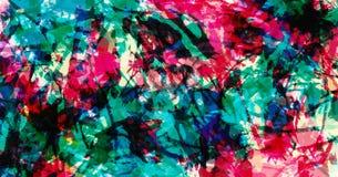 Zeitgen?ssische Kunst Hintergrund der abstrakten Kunst Bunte grunge Beschaffenheit Pinselstriche der Farbe lizenzfreie abbildung