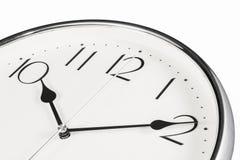 Zeitkonzept mit Uhr Lizenzfreies Stockbild