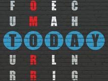 Zeitkonzept: Wort heute, wenn Kreuzworträtsel gelöst wird Vektor Abbildung