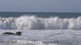 Zeitlupe des Meerblicks in Marcona, Peru stock footage