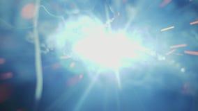 Zeitlupe-Makroschuß des Bogen-Schweißverfahrens stock footage