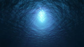 Zeitlupeozean-Unterwasseransicht Nahtloser Schleifungshintergrund