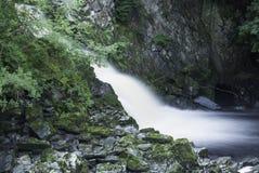 Zeitlupewasserfall Wales Stockfotografie