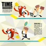 Zeitmanagement, VektorKonzept des Entwurfes Lizenzfreie Stockbilder