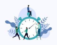 Zeitmanagement, Zeitplankonzept oder Planer lizenzfreie abbildung