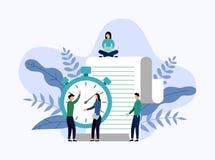 Zeitmanagement, Zeitplankonzept oder Planer vektor abbildung