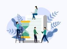 Zeitmanagement, Zeitplankonzept oder Planer stock abbildung