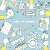 Zeitmanagementillustration Lizenzfreie Stockfotos