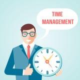 Zeitmanagementplakat lizenzfreie abbildung