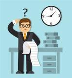 Zeitmangel und eine lange Liste von Aufgaben Stockfotos