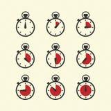 Zeitpiktogramme Lizenzfreies Stockbild