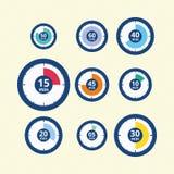 Zeitpiktogramme Stockbilder