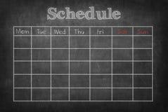 Zeitplan an Lizenzfreie Stockfotos