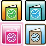 Zeitplan-Ikonenvektor Lizenzfreies Stockbild