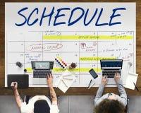 Zeitplan-Tätigkeits-Kalender-Verabredung Conceptjavascript: chkspelldocument uploadfrm1 M_title Wert; Lizenzfreie Stockfotografie